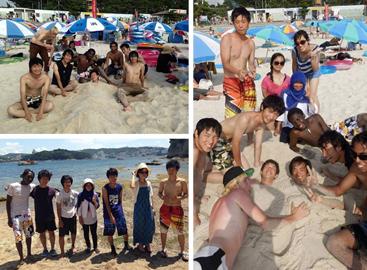 Students in Shirahama